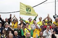 Bristol - Saturday May 1st, 2010: Norwich City fans celebrate winning the League One Championship during the Coca Cola League One match at The Memorial Stadium, Bristol. (Pic by Mark Chapman/Focus Images)