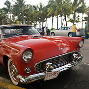 Vintage Car Outside the Avalon Hotel in South Beach, Miami