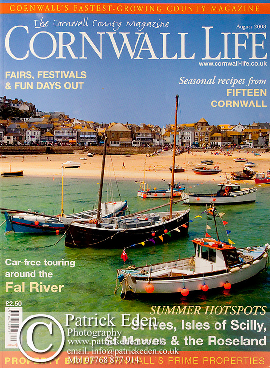 Cover Photograph, Cornwall Life, St Ives, Cornwall, Photographs by Patrick Eden Photography