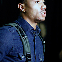 29 January 2012: Chicago Bulls Derrick Rose arrives at the arena prior to the Miami Heat game against the Chicago Bulls at the AmericanAirlines Arena, Miami, Florida, USA.