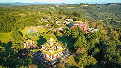 Vista do Templo Terra Pura de Padmasambava, no Centro Budista Khadro Ling, em Três Coroas - RS. FOTO: Jefferson Bernardes / Agencia Preview