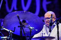 Alvester Garnett performing with Oran Etkin at Ubud Village Jazz Festival, 7/8/2015.