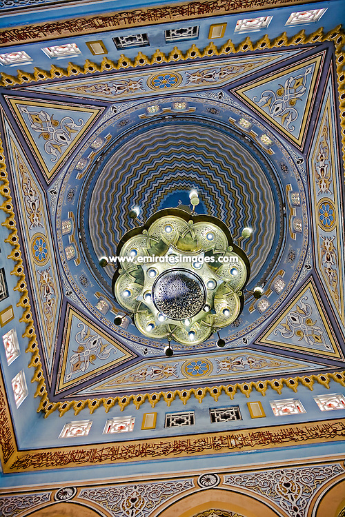 Ceiling of a mosque in Jumeirah, Dubai, United Arab Emirates