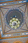 Ceiling of a mosque in Jumeirah, Dubai, United Arab Emirates