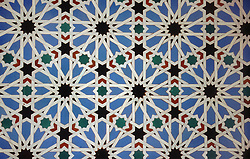 Tiling in the Alcazar; Seville,