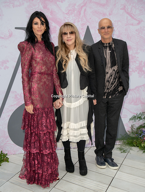 Stevie Nicks, Jimmy Iovine and Liberty Ross arrives at V&A - summer party, on 19 June 2019, London, UK