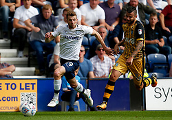 Tom Barkhuizen of Preston North End takes on Daniel Pudil of Sheffield Wednesday - Mandatory by-line: Matt McNulty/JMP - 05/08/2017 - FOOTBALL - Deepdale - Preston, England - Preston North End v Sheffield Wednesday - Sky Bet Championship