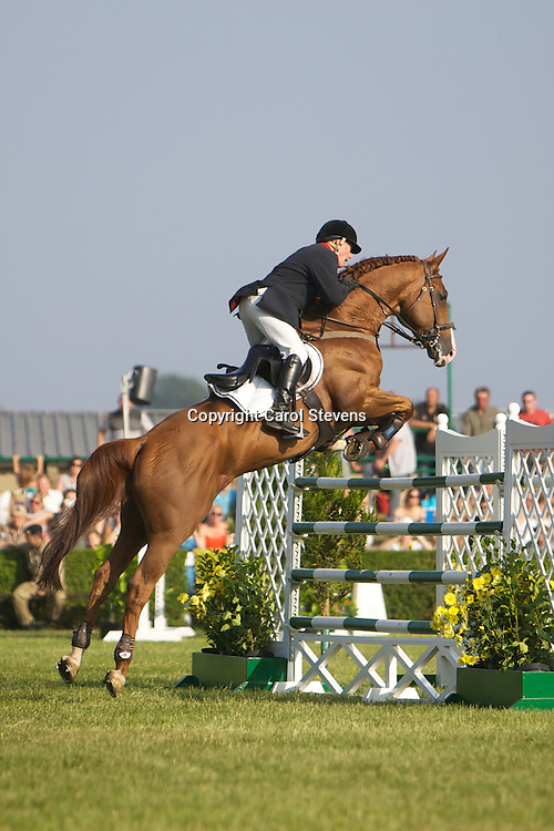John Whittaker in Top Class Showjumping at the Great Yorkshire Show 2013<br />