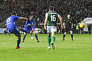 Daniel Candeias scores goal during the Ladbrokes Scottish Premiership match between Hibernian and Rangers at Easter Road, Edinburgh, Scotland on 8 March 2019.