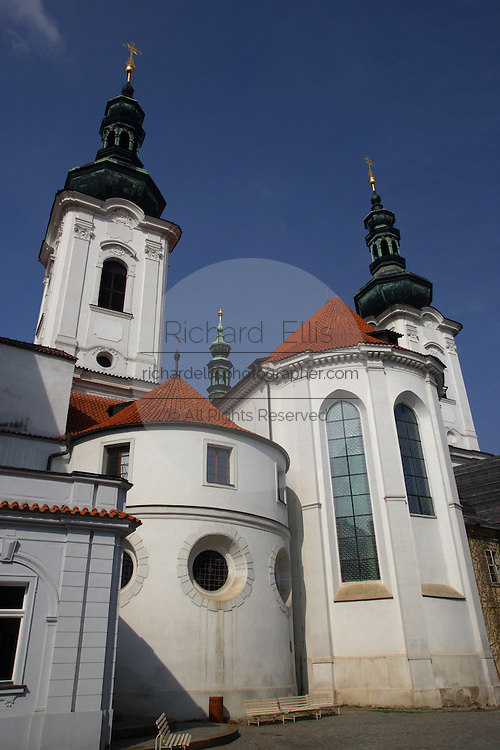Strahov Monastery on Petrin Hill Prague, Czech Republic. Founded in 1140 was rebuilt in Gothich and Baroque styles.