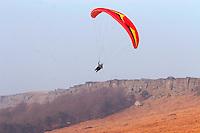 Paraglider , Stanage Edge Derbyshire ..., Travel, lifestyle