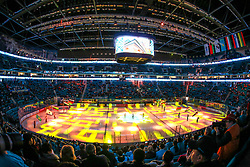 Show prior to ice hockey match between Slovenia and Kazakhstan at IIHF World Championship DIV. I Group A Kazakhstan 2019, on April 29, 2019 in Barys Arena, Nur-Sultan, Kazakhstan. Photo by Matic Klansek Velej / Sportida