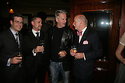 Philip Mossiman, Mark Mossiman, Trevor Eve and Anton Mossiman, PJ's Annual Polo Party . Annual Pre-Polo party that celebrates the start of the 2007 Polo season.  PJ's Bar & Grill, 52 Fulham Road, London, SW3. 14 May 2007. <br /> -DO NOT ARCHIVE-© Copyright Photograph by Dafydd Jones. 248 Clapham Rd. London SW9 0PZ. Tel 0207 820 0771. www.dafjones.com.
