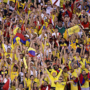 EAST RUTHERFORD, NEW JERSEY - JUNE 17:  Colombia and Peru fans join in a Mexican wave during the Colombia Vs Peru Quarterfinal match of the Copa America Centenario USA 2016 Tournament at MetLife Stadium on June 17, 2016 in East Rutherford, New Jersey. (Photo by Tim Clayton/Corbis via Getty Images)