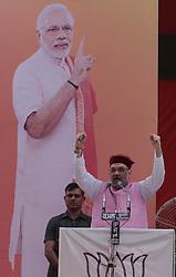 September 22, 2017 - Kangra, India - BJP national President Amit Shah during the BJYM Hunkar Ralley at Kangra. (Credit Image: © Shailesh Bhatnagar/Pacific Press via ZUMA Wire)