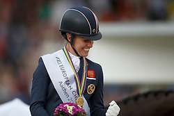 Podium GPS, 1 Dujardin Charlotte, (GBR)<br /> Grand Prix Special<br /> European Championships - Aachen 2015<br /> © Hippo Foto - Dirk Caremans<br /> 15/08/15