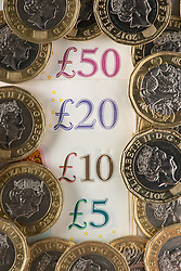 """Embargoed to 0001 Thursday February 21 Undated file photo of UK money. Pay rises have """"rebounded"""" so far this year, with median increases of an above-inflation 2.8%, according to a new study."""