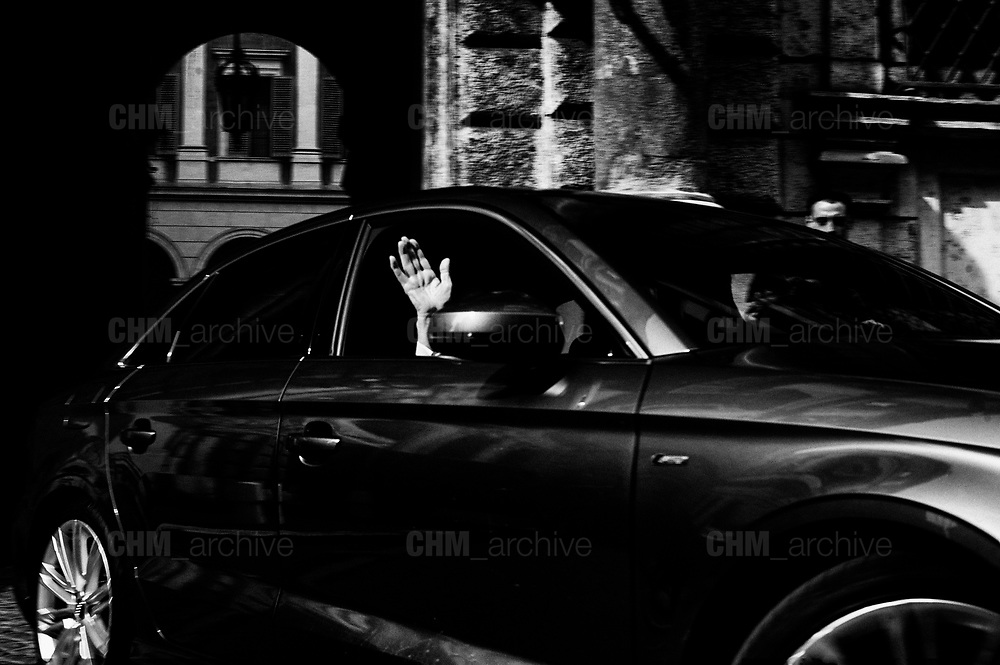 The hand of Gianni Letta after a meeting among the right-wing political parties at Palazzo Grazioli. March 23, 2018 in Rome, Italy. Christian Mantuano / OneShot