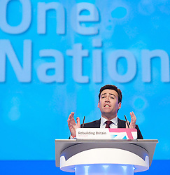 Andy Burnham MP, Shadow Health Secretary during the Labour Party Conference in Manchester, October 3,  2012, Photo by Elliott Franks / i-Images