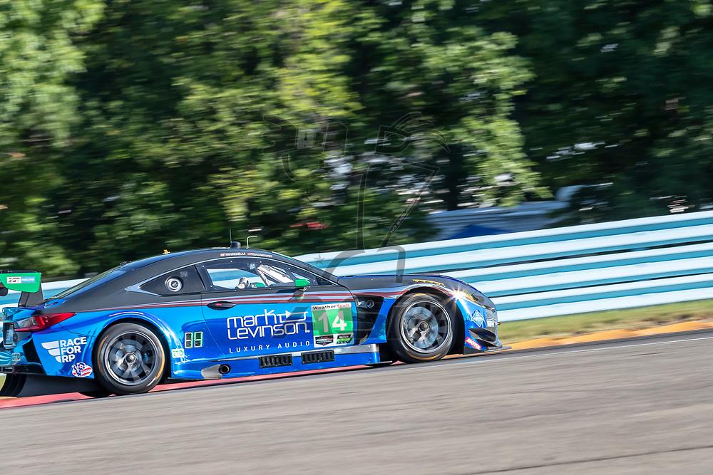 The 3GT Racing Lexus RCF GT3 car practice for the Sahlen's Six Hours At The Glen at Watkins Glen International Raceway in Watkins Glen, New York.