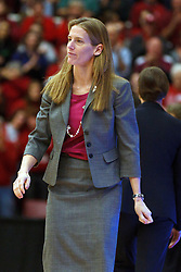 March 21, 2011; Stanford, CA, USA;  St. John's Red Storm head coach Kim Barnes Arico on the sidelines against the Stanford Cardinal during the first half of the second round of the 2011 NCAA women's basketball tournament at Maples Pavilion.