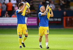 Stuart Sinclair of Bristol Rovers and Tom Nichols of Bristol Rovers - Mandatory by-line: Alex James/JMP - 15/09/2018 - FOOTBALL - Kenilworth Road - Luton, England - Luton Town v Bristol Rovers - Sky Bet League One