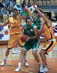 Milos Milkovic at 12th Round of UPC League basketball match between KK Luka Koper and KK Zlatorog Lasko, on May 2, 2009, in Arena Bonifika, Koper, Slovenia. Zlatorog won the match 72:71. (Photo by Vid Ponikvar / Sportida)