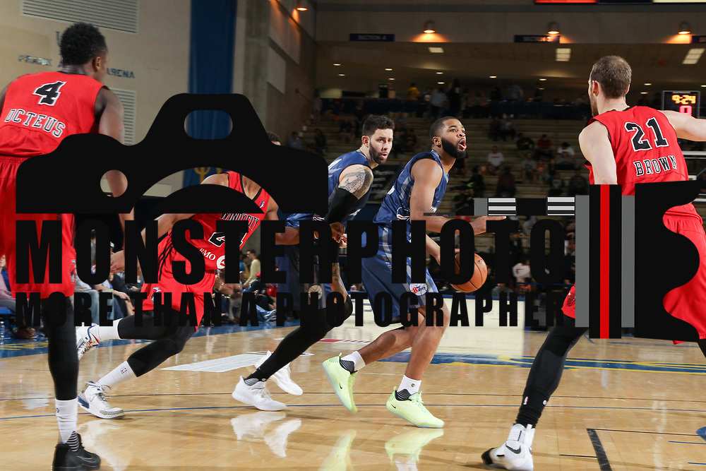 Delaware 87ers Guard AARON HARRISON (15) looks to take a shoot in the second half of an NBA D-league regular season game between the Delaware 87ers and the Windy City Bulls (Chicago Bulls) Saturday, March 25, 2017 at The Bob Carpenter Sports Convocation Center in Newark, DEL