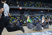 UNITED KINGDOM, London: 2015 World Wheelchair Rugby Challenge. Caption: South Africa's Okker Anker (left) smashes into New Zealand's Cameron Leslie. Rick Findler / Story Picture Agency