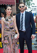 Captain America star Chris Evans and Hong Kong actress Miriam Yeung on the red carpet