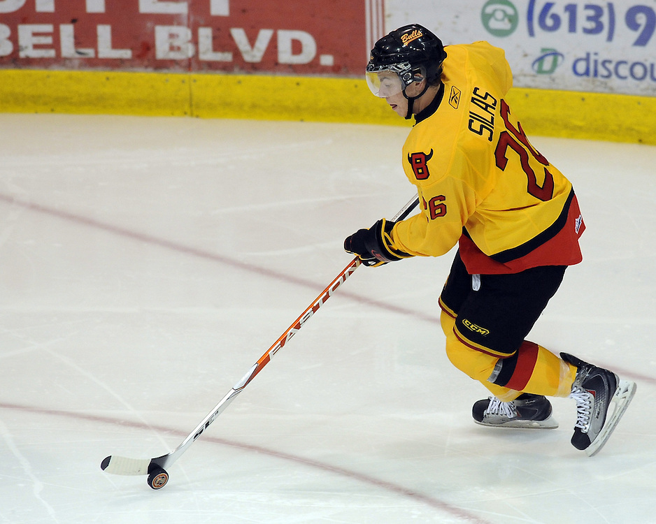Stephen Silas of the Belleville Bulls. Photo by Aaron Bell/OHL Images