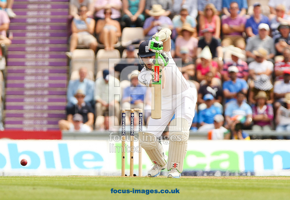 Sam Robson of England bats during the Investec Test Match match at the Ageas Bowl, West End<br /> Picture by Tom Smith/Focus Images Ltd 07545141164<br /> 27/07/2014