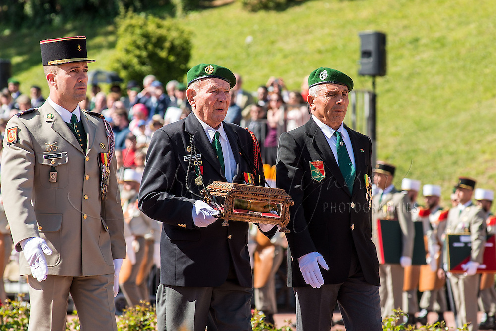 Presentation of Foreign Legion Captain Danjou's wooden hand<br />
