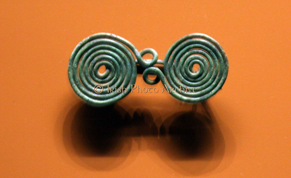Spiral brooches from the Iron Age.