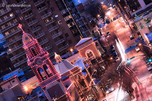 Zoomed In Photo Of Kansas Cityu0027s Country Club Plaza Lights