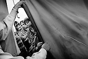 The Pakistan Islamic Medical Association&rsquo;s camp by the river in Muzzafarabad. While the well-organised camps of the international relief organisations quickly filled up and had to turn away the injured, PIMA&rsquo;s went on growing into a noisy, dirty chaos.<br /> Nov/Dec. 2005
