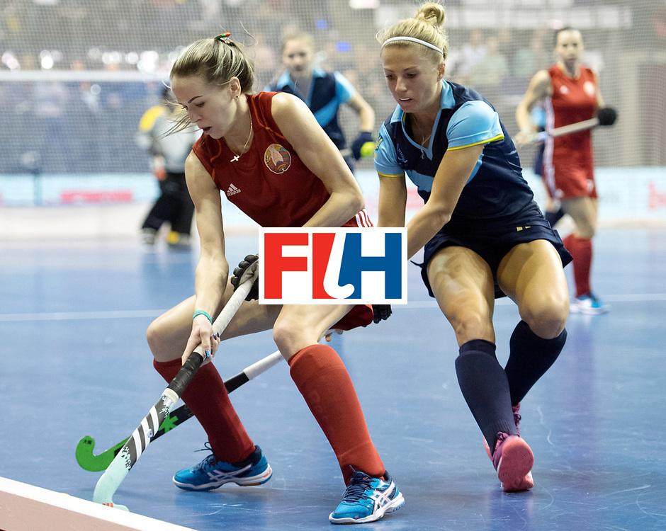 BERLIN - Indoor Hockey World Cup<br /> Bronze: Ukraine - Belarus<br /> foto: Nadzeya Silitskaya <br /> WORLDSPORTPICS COPYRIGHT FRANK UIJLENBROEK