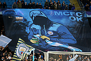 Manchester City banner during the Champions League match between Manchester City and Dinamo Zagreb at the Etihad Stadium, Manchester, England on 1 October 2019.