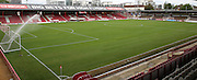 The new pitch at Griffin Park after it had been re-laid during the Sky Bet Championship match between Brentford and Reading at Griffin Park, London, England on 29 August 2015. Photo by Matthew Redman.