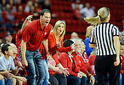USD fans disagree with a foul called on the Coyotes during the Women's NIT Championship game on Saturday in the DakotaDome in Vermillion. (Matt Gade/Republic)