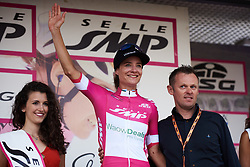 Marianne Vos (NED) takes the lead in the points classification at Giro Rosa 2018 - Stage 8, a 126.2 km road race from San Giorgio di Perlena to Breganze, Italy on July 13, 2018. Photo by Sean Robinson/velofocus.com