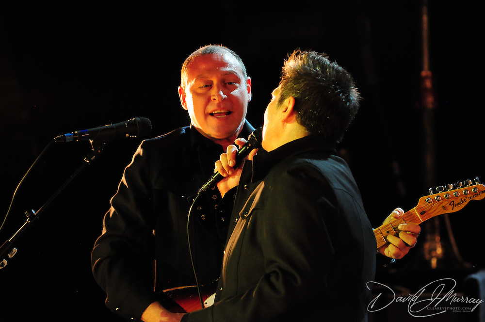 Siss Boom Bang guitarist Joe Pisapia with k.d. lang at The Music Hall in Portsmouth, NH