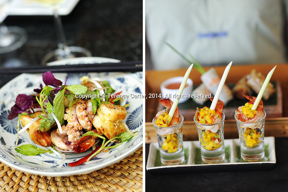 Resort food, Hoi An, Vietnam. Copyright 2014 Terence Carter / Grantourismo. All Rights Reserved.