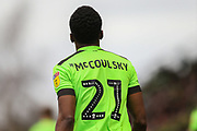 Forest Green Rovers Shawn McCoulsky(21) during the EFL Sky Bet League 2 match between Forest Green Rovers and Lincoln City at the New Lawn, Forest Green, United Kingdom on 2 March 2019.
