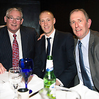 Steven Anderson Testimonial Dinner, Salutation Hotel, Perth...21.02.15<br /> Steven pictured with compare Jim Leishman and guest speaker John Connolly<br /> Picture by Graeme Hart.<br /> Copyright Perthshire Picture Agency<br /> Tel: 01738 623350  Mobile: 07990 594431