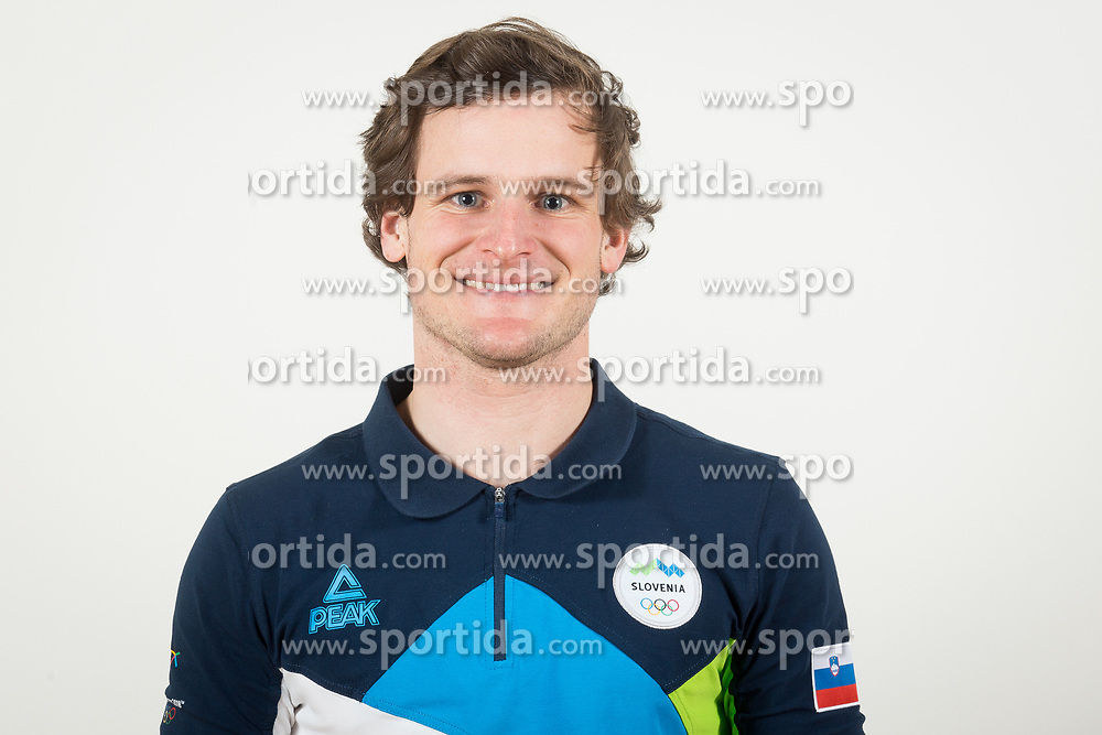 Tim Mastnak during the outfitting of the Slovenian Olympic Team for PyeongChang 2018, on January 29, 2018 in GH Union, Ljubljana, Slovenia. Photo by Urban Urbanc / Sportida