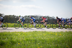 A group with Rachel Neylan (AUS) of Orica-AIS Cycling Team, Katarzyna Niewiadoma (POL) of Rabo-Liv Cycling Team and Claudia Lichtenberg (GER) of Lotto Soudal Cycling Team ride in the chasing group on the uncategorised climb of the short lap during the second, 110.1km road race stage of Elsy Jacobs - a stage race in Luxembourg in Garnich on May 1, 2016.