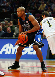 Nov 21, 2008; New York, NY, USA; Duke Blue Devils forward Gerald Henderson (15) handles the ball during the 2K Sports Classic Championship game against the Michigan Wolverines at Madison Square Garden. Duke won 71-56.