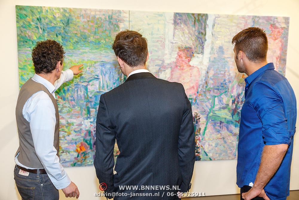 NLD/Zwolle20150917 - CD presentatie Open van Nick & Simon en expositie opening, met Niels Smits van Burght