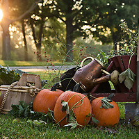 Set up for Fall Flavors at Greenfield Village.  Photographed by KMS Photography for The Henry Ford.